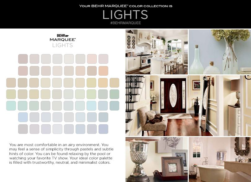 What S Your Behr Marquee 174 Color Personality Lights Home