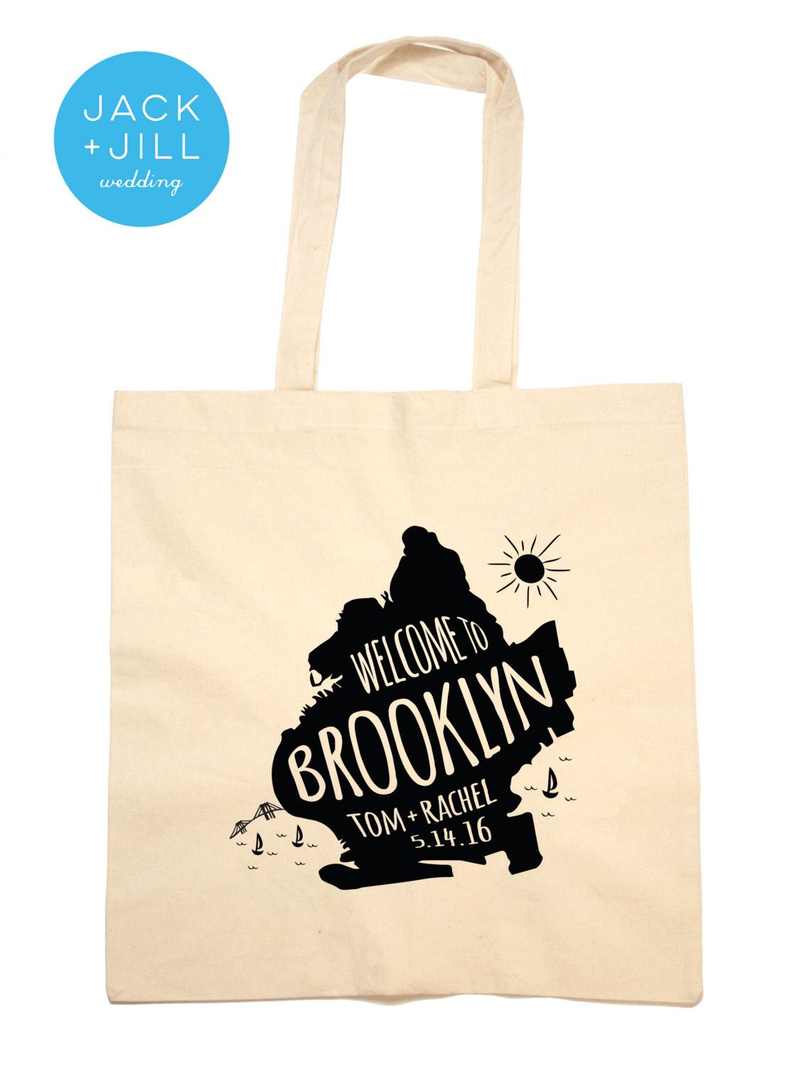 Welcome bags Tote Bag Wedding Favor Brooklyn NY Welcome Bag by ...