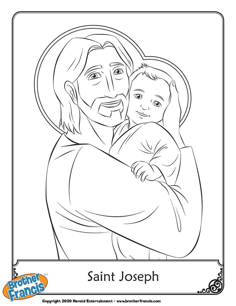 St Joseph Free Coloring Page Catholic Coloring Coloring Pages Faith Crafts