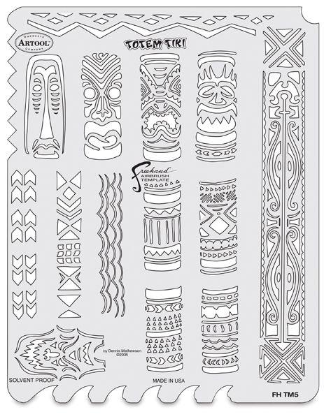 Tiki Master Totem Template