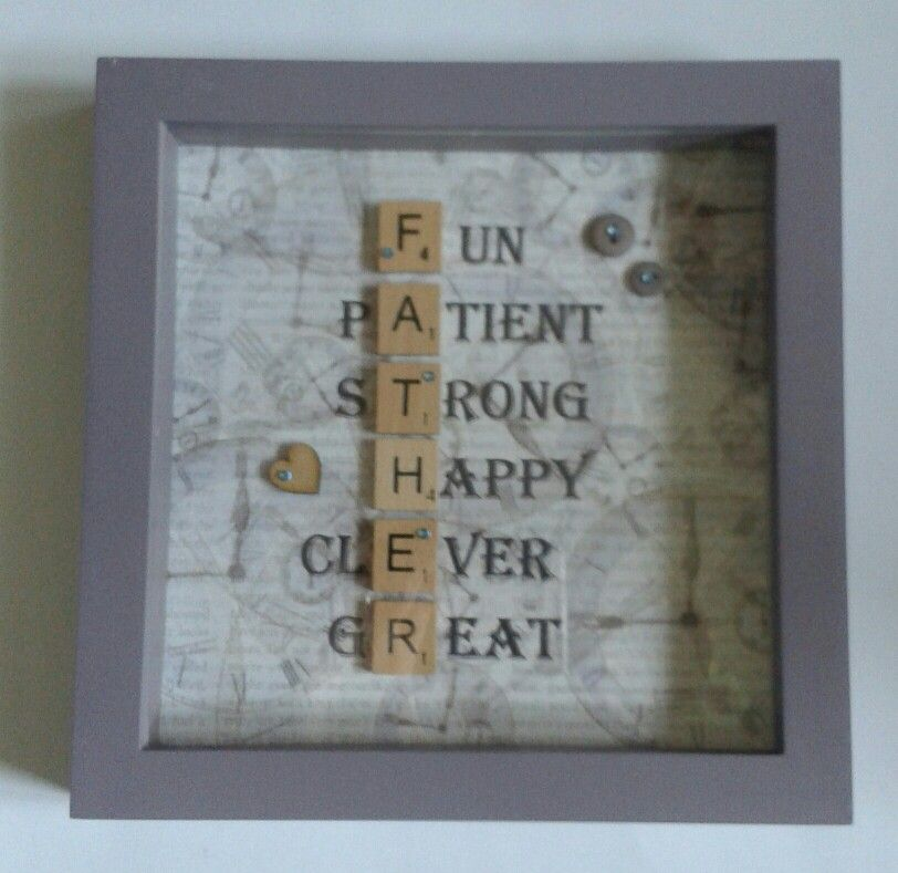 scrabble art fathers day frame � crafts scrabble