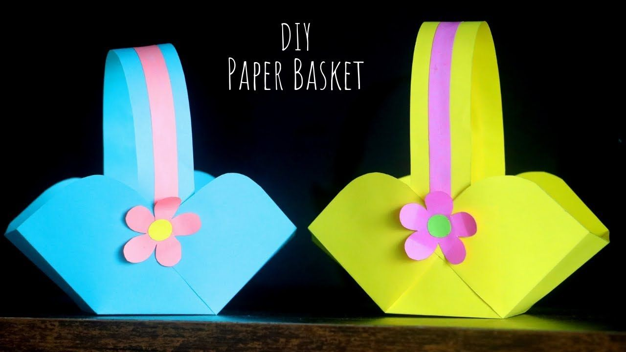 Diy Paper Basket Easy Easter Basket Ideas Paper Craft Ideas For Kids Youtube Easter Crafts Diy Kids Easter Basket Diy Easter Basket Crafts