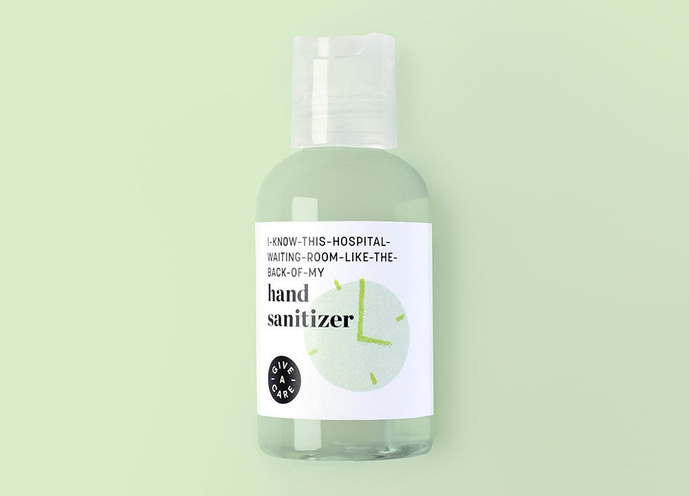 The Give A Care Collection Cancer Hand Sanitizer Packaging Design