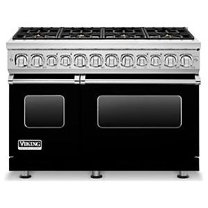 Viking Professional 7 Series 48 8 Burner Propane Gas Dual Fuel Range Black Vdr7488bbklp Convection Cooking Large Oven Vikings