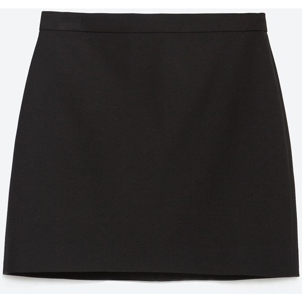 7fa20d7f Zara Mini Skirt With Seams (23 BAM) ❤ liked on Polyvore featuring ...