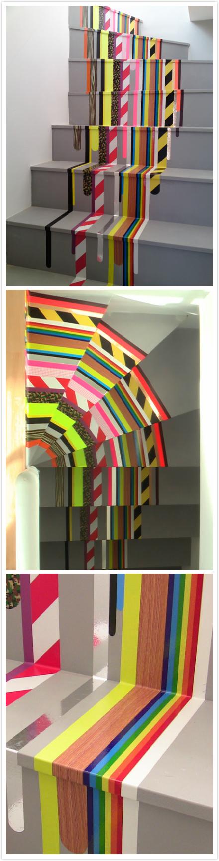 Washi Tape Stairs DIY Pinterest