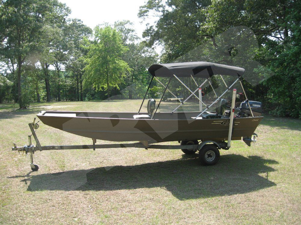 Carver 3 Bow Round Tube Bimini Top w/ Optional Rear Brace Kit. : canopy for jon boat - afamca.org