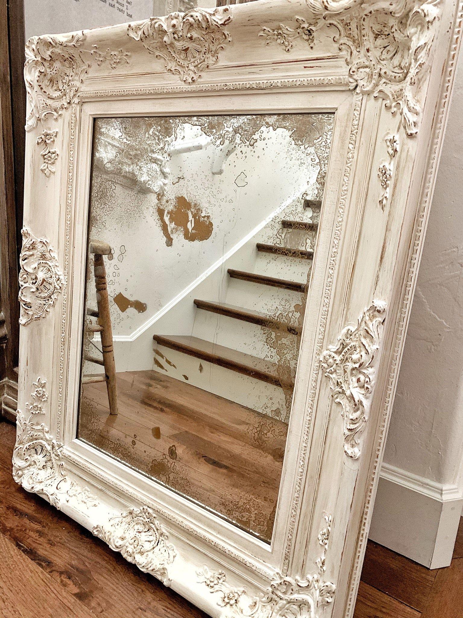Diy Antiqued Mirror In 2020 Antique Mirror Diy Mirror Painting Antique Mirror Frame