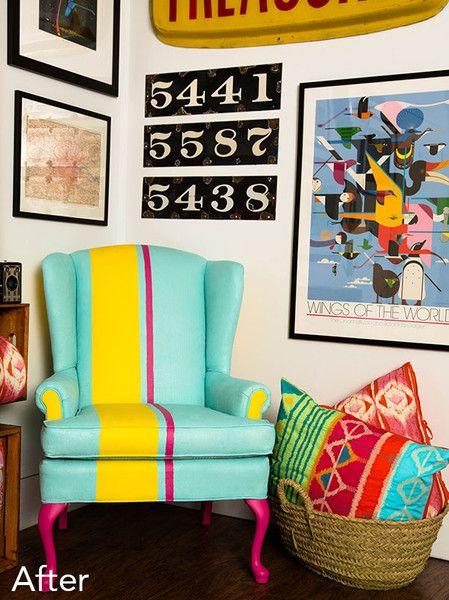 Sara Loves - DIY: Cómo pintar el tapizado de un sillón - Handbox   Craft Lovers