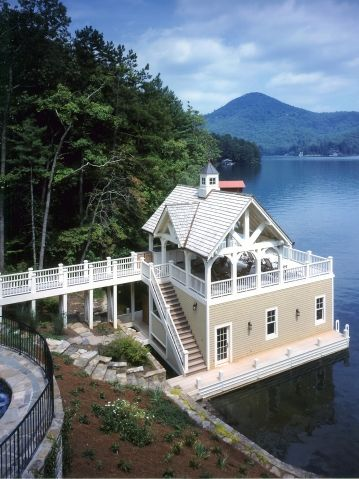 Boathouse of boathouses | Lake Living...perhaps one day ...