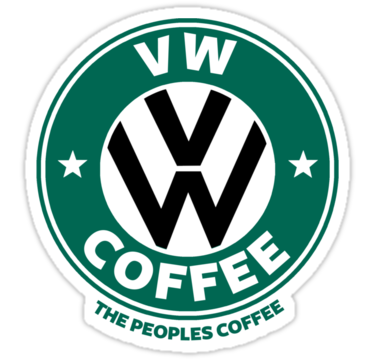 Vw Decal Vw Stickers Volkswagen Decal Coffee Stickers Vw Art