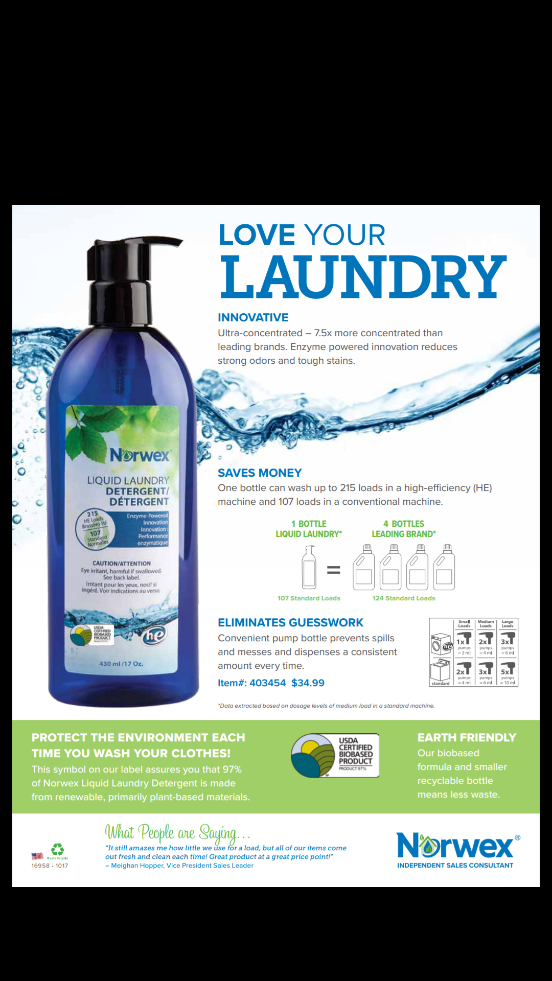 Norwex Liquid Laundry Available Now 100 Usda Certified Biobased Product 215 He Loads 107 Standard Washer Norwex Norwex Cleaning Laundry Detergent