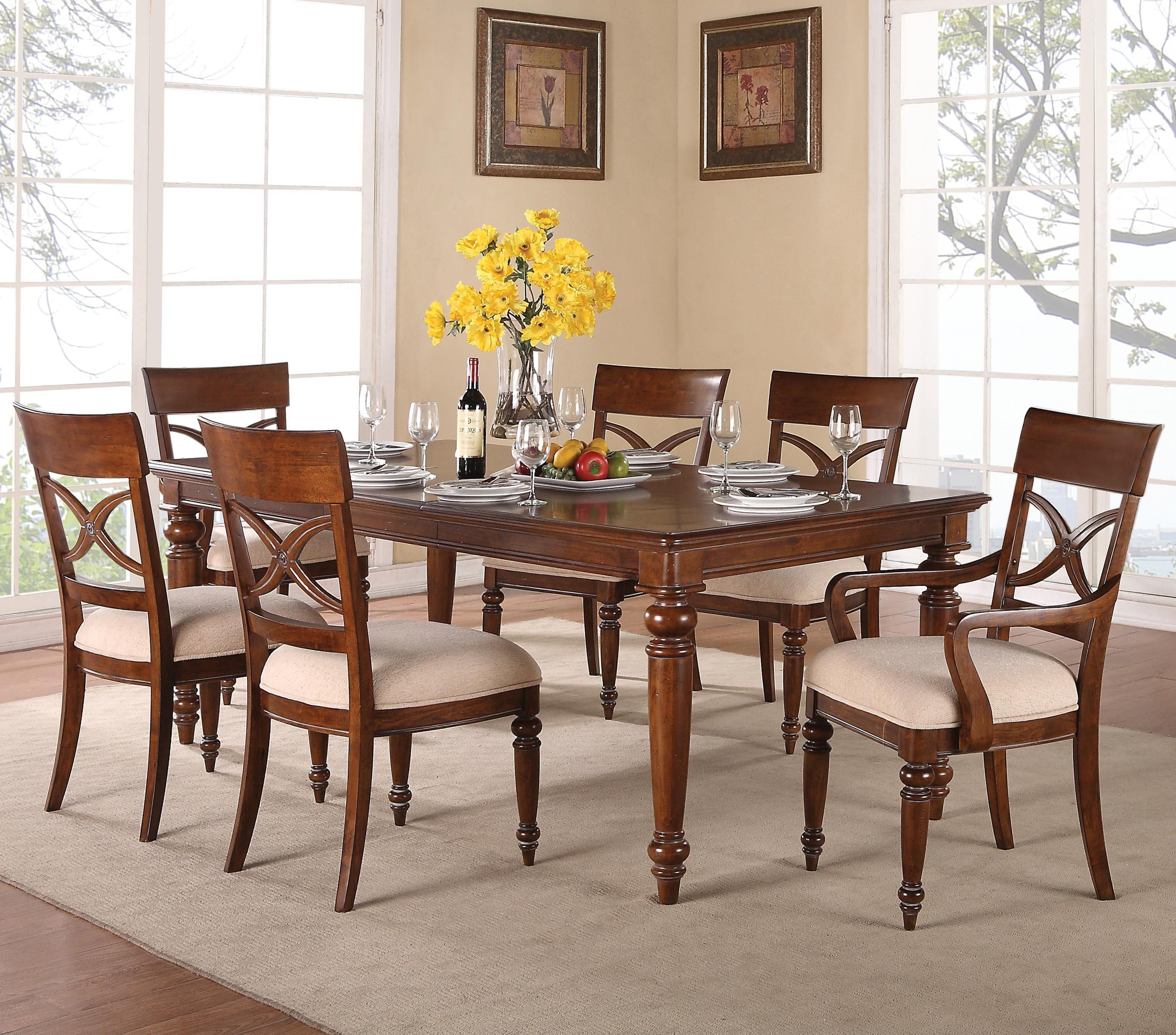 American Heritage 7 Piece Dining Setflexsteel Wynwood Captivating Heritage Dining Room Furniture Review