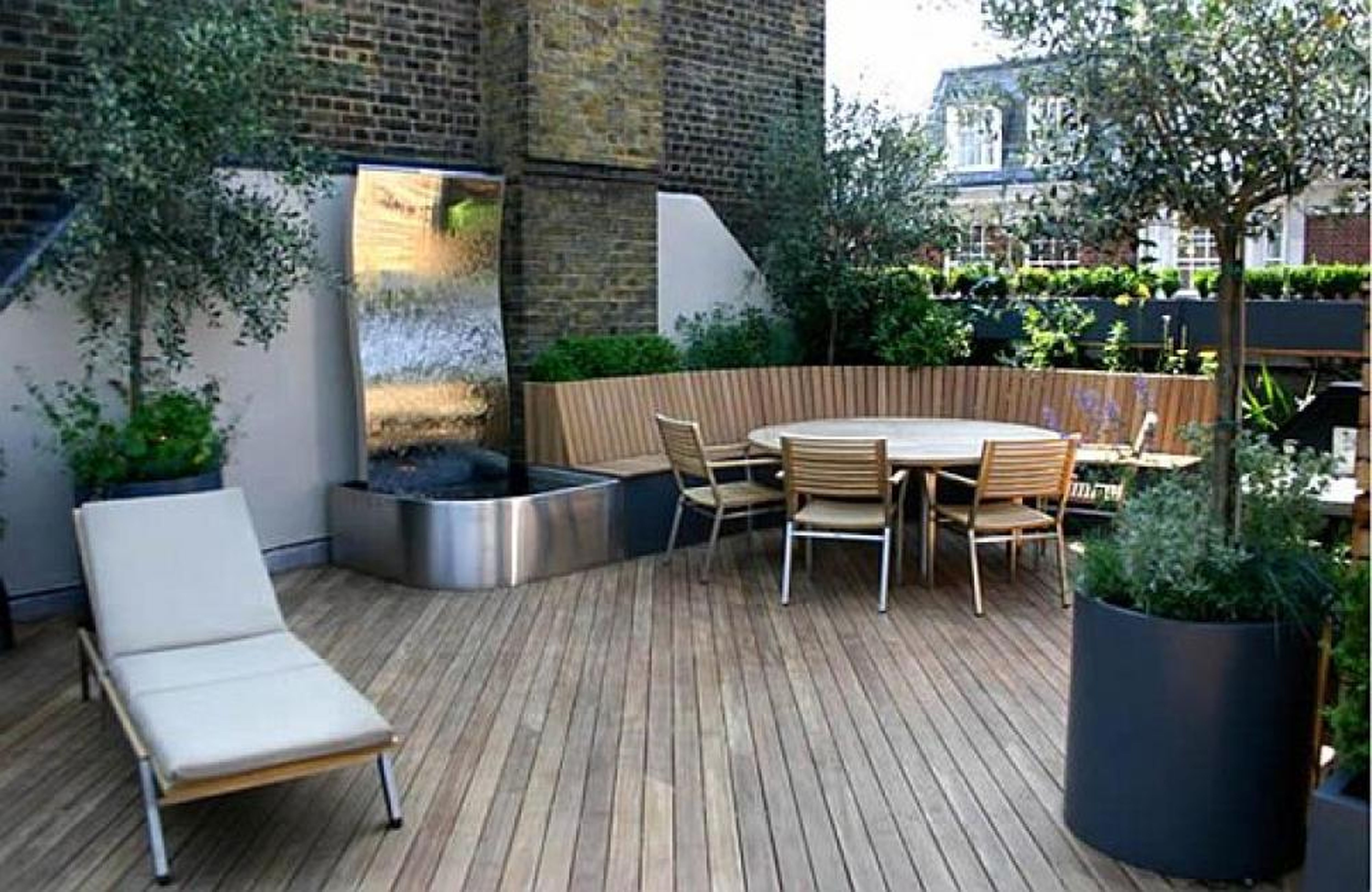 Patio deck balcony in landscape backyard balcony garden for Cool apartment patio ideas