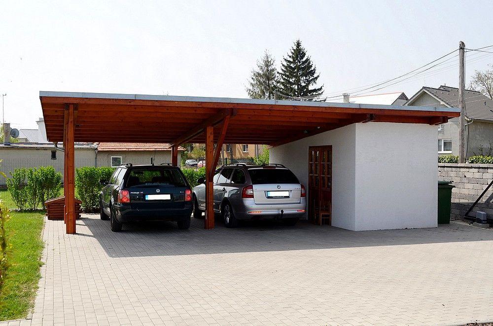 Medzi Nasimi Realizaciami Najdete Pristresky Pre Auta So Sedlovou Strechou Pristresky Na Auto S Valbovou Strec Carport Sheds Barn House Plans Metal Barn Homes