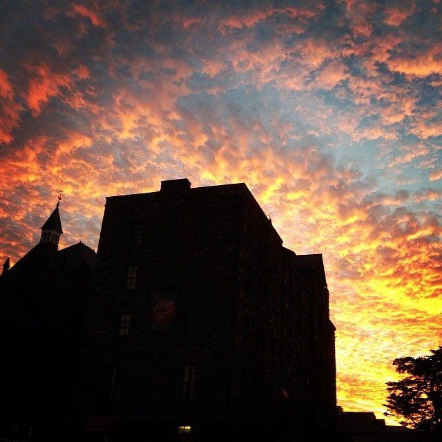 Amazing sunset over The Catholic University of America