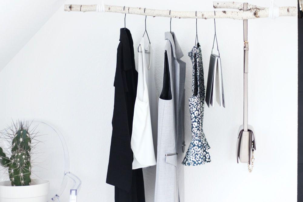 Diy Kleiderstange diy garderobe aus birkenstamm birkenstamm diy garderobe und