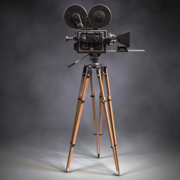 Caméra Sur Pied Idéal Pour Donner Un Air De Cinéma à Son Intérieur Décoration Cinéma Maisons Vintage Caméra De Cinéma