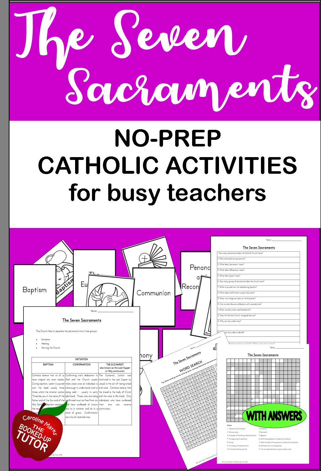 Catholic Lessons The Seven Sacraments