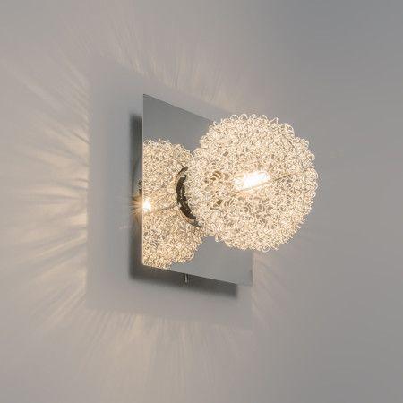 Wand-/Deckenleuchte Fuzzle 1 chrom: #drahtleuchten #innenbeleuchtung ...