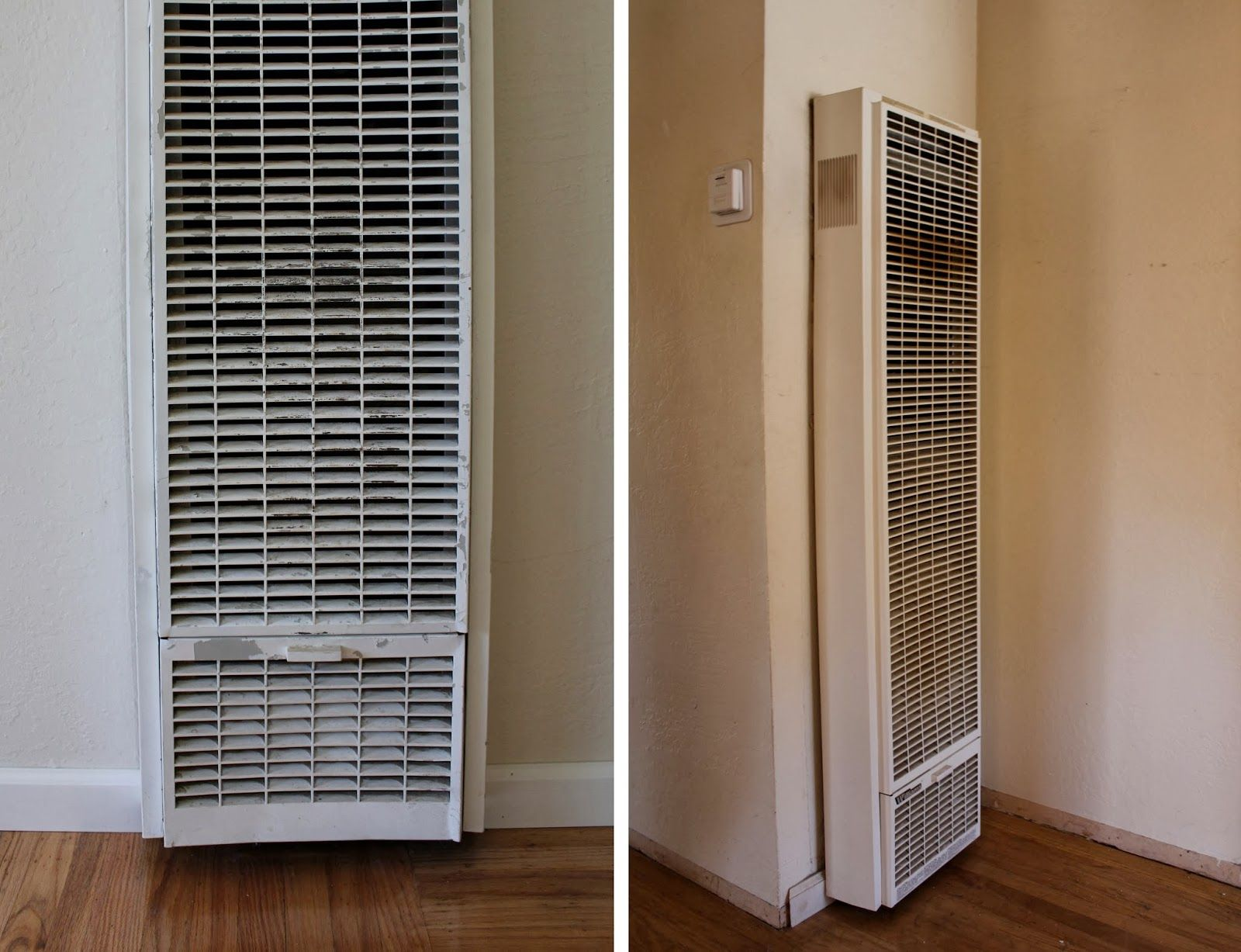 An Easy Update For Old Wall Heaters Old Wall Wall Mounted Fireplace Fireplace Heater