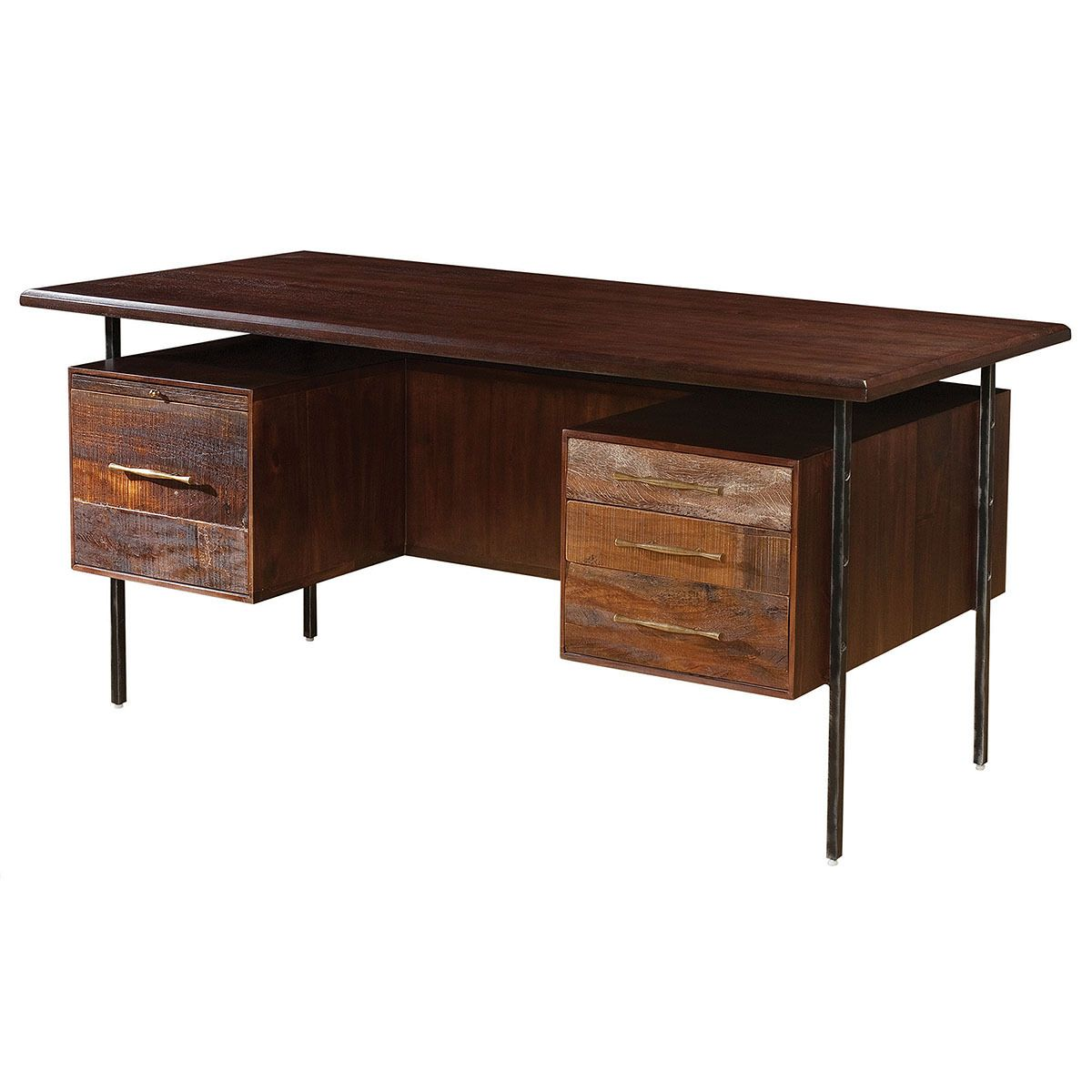 Lauren Reclaimed Wood Executive Desk