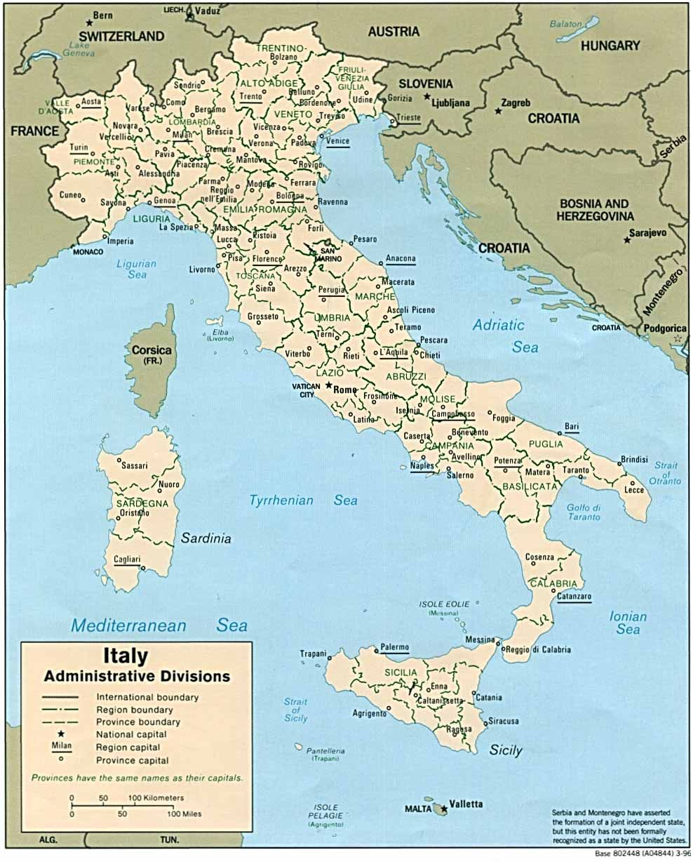 map of italy Detailed political map of Italy Italy detailed