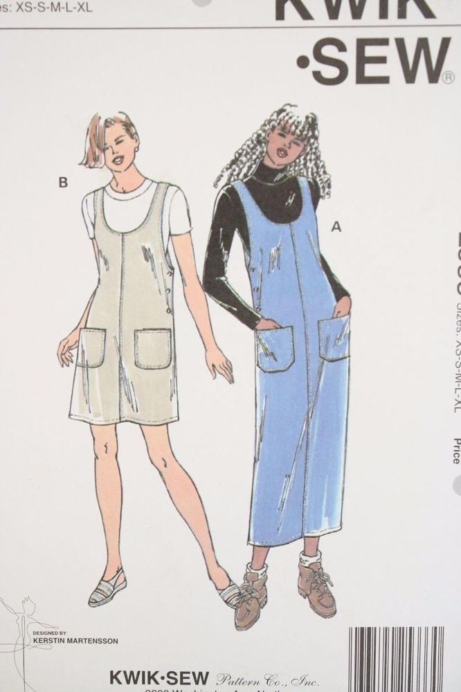 90s Kwik Sew 2533 Sewing Pattern Misses\' Jumpers XS-XL Martensson UC ...