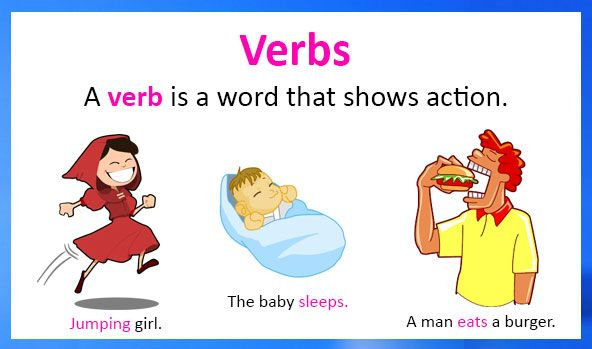 how to use a verb in a sentence example