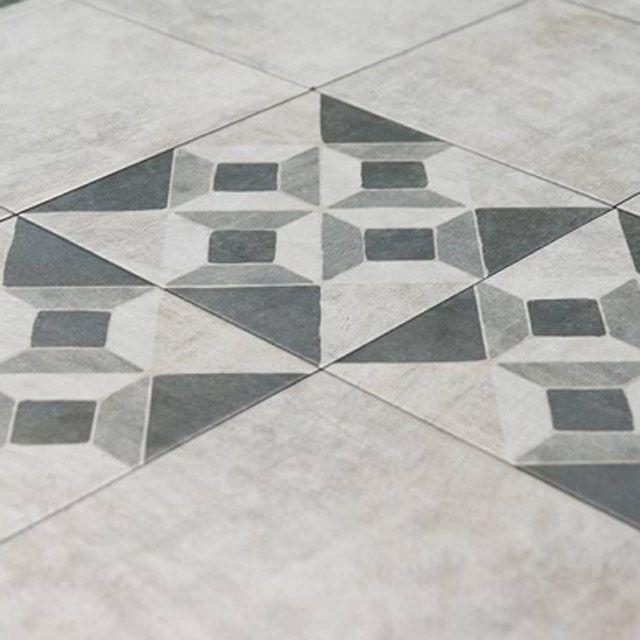Carrelage Sol Gris Decor Graphique Messine 30 X 30 Cm Castorama