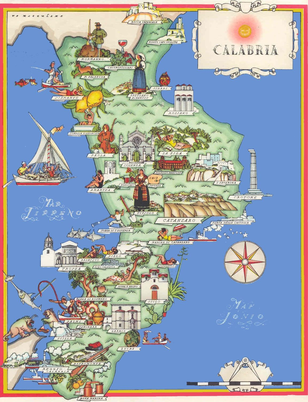 Calabria tourist map Podróże
