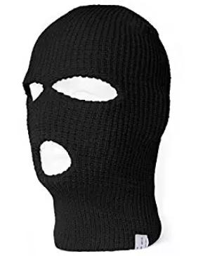 Topheadwear 3 Hole Ski Face Mask Balaclava Panter Orlon Siyah