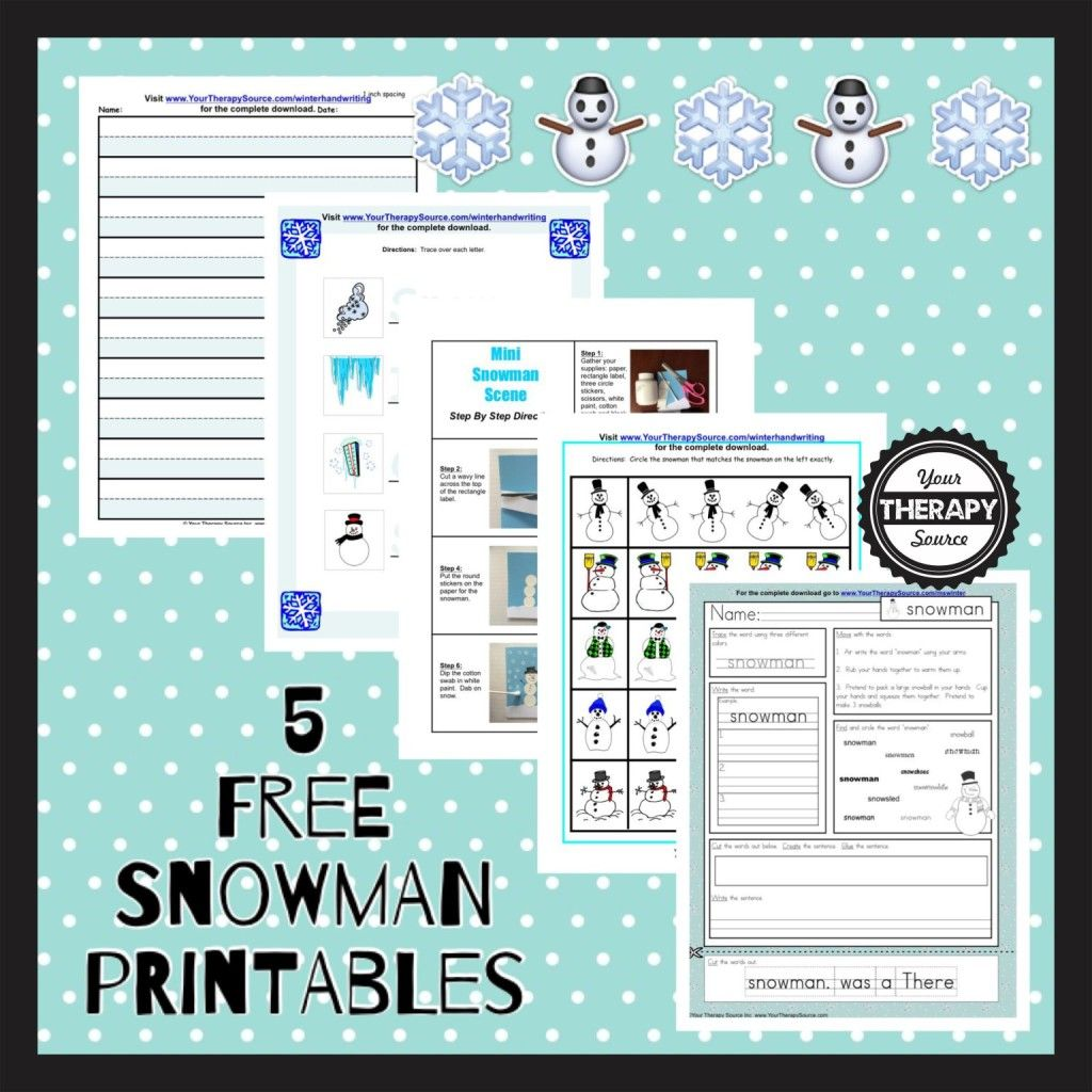Free Printable Winter Worksheets