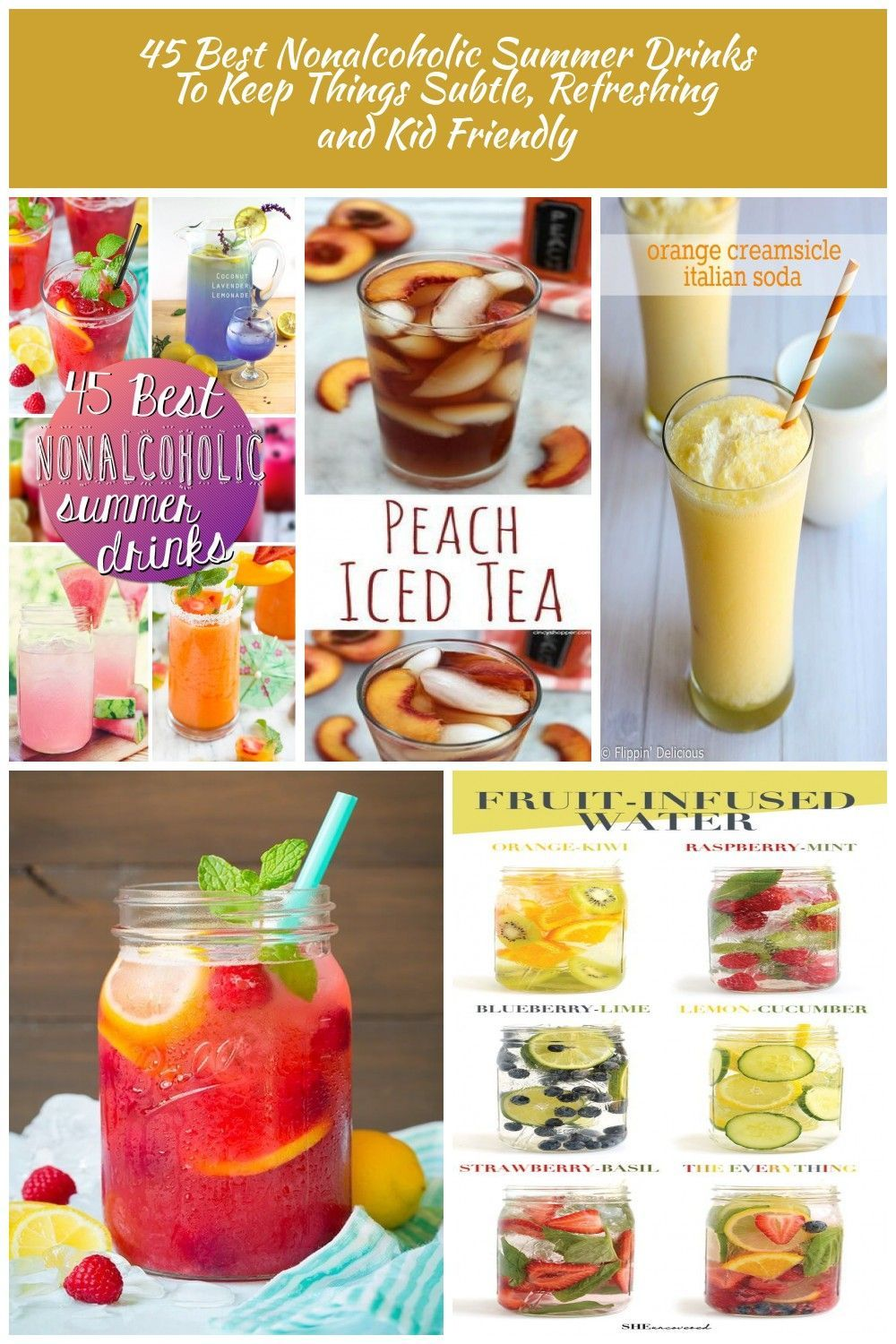 45 Best Nonalcoholic Summer Drinks #non #alcoholic #summer #drinks refreshing dr…
