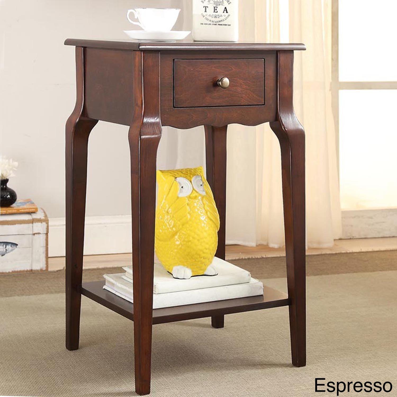 Daniella 1-drawer Wood Storage Accent End Table by Inspire Q (Espresso),