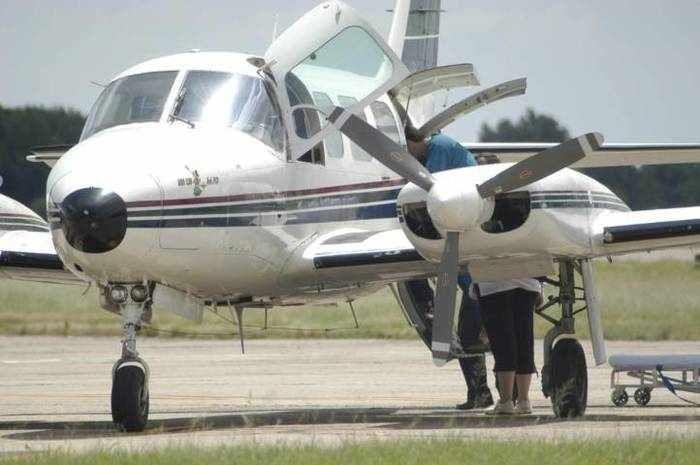 20 años del servicio sanitario del avión ambulancia