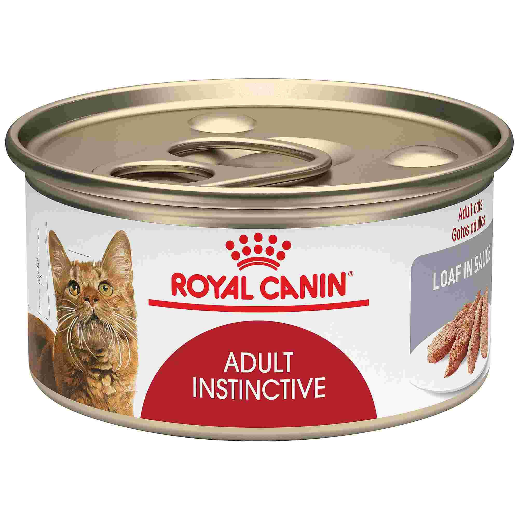 Royal Canin Adult Instinctive Loaf In Sauce Wet Cat Food 5 8 Oz Case Of 24 Canned Cat Food Feline Health Wet Cat Food