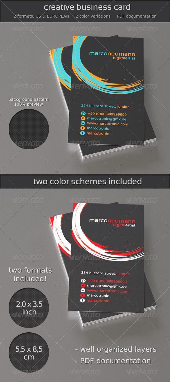 Creative Business Card Graphicriver This Business Card Is Very Well