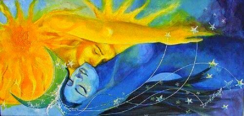 El sol y la luna, un amor apasionado...