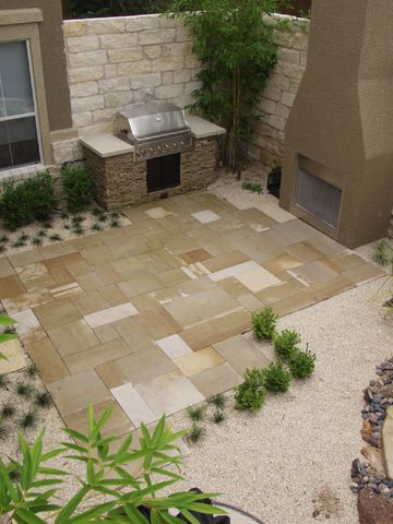 Captivating Stone Paver Patio In Gravel