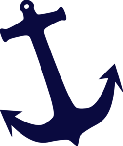 Tilt Navy Anchor Clip Art
