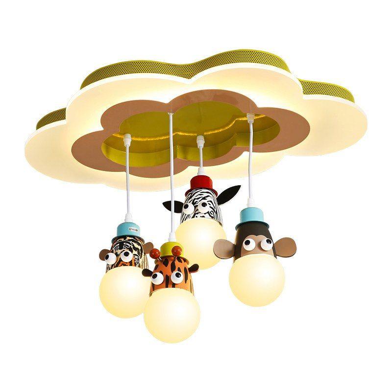 Novelty E27 Bulb Light Cartoon Animal Monkey Zebra Giraffe Children Kids Bedroom Pendant Lamp Hang Pendant L Pendant Lamps Bedroom Bedroom Pendant Pendant Lamp