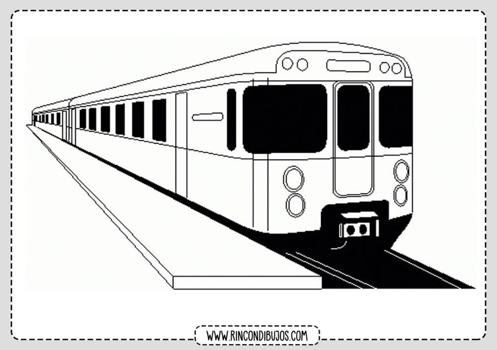 Dibujos De Trenes Moderno Colorear Dibujo Tren Tren Para Colorear Tren