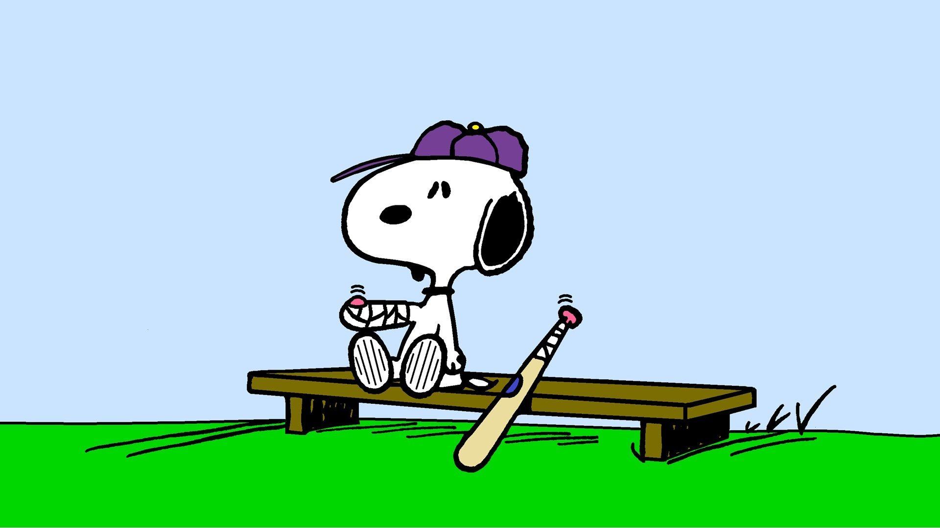 Snoopy Injured Baseball Player Wallpaper 1920x1080 Jpeg Snoopy Images Cartoon Wallpaper Snoopy