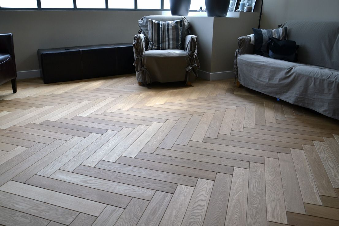 Le Motif De Parquet Baton Rompu Photo Parquet Baton Rompu Parquet Chevrons Renovation Appartement