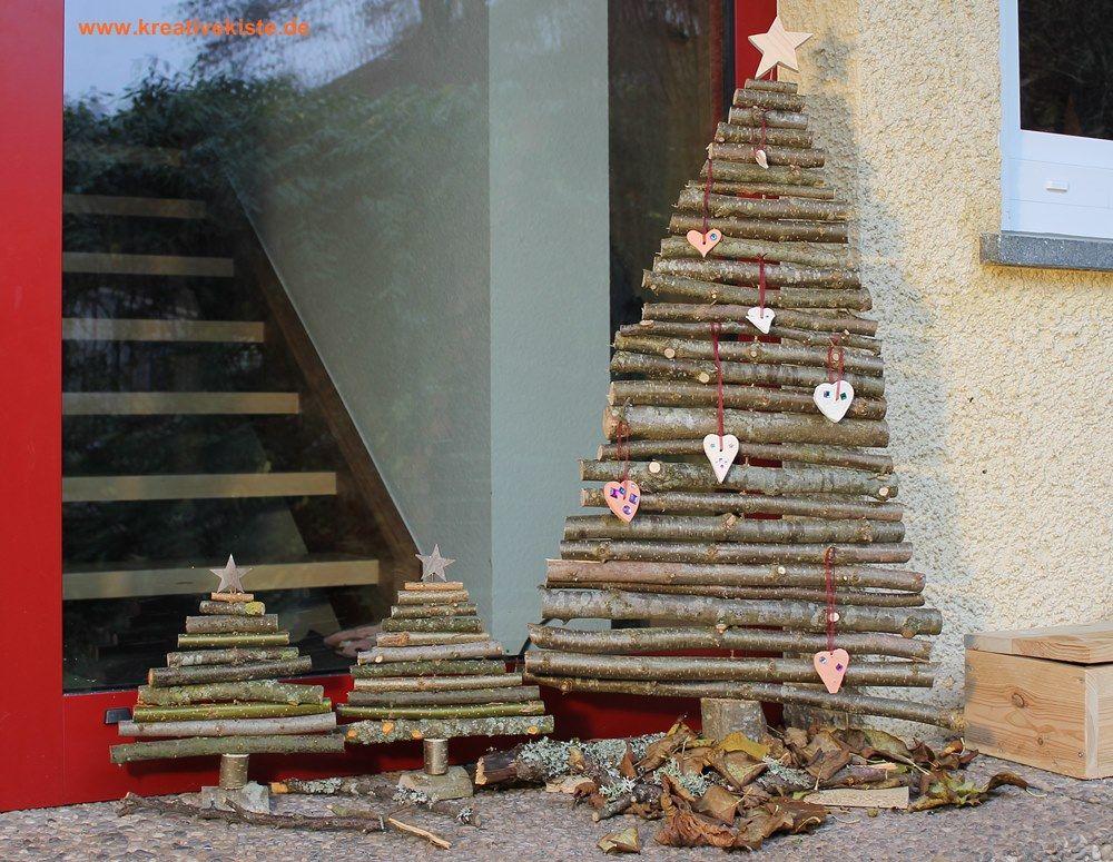 DIY Weihnachtsbaum Aus Ästen Basteln Deko Weihnachten