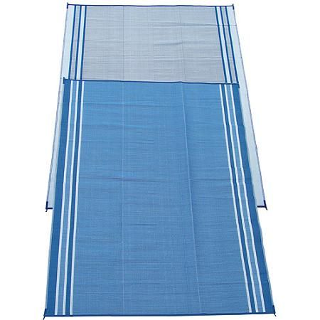 The Fireside Patio Mats Hawaiian Blue 108 In Polypropylene Indoor Outdoor Reversible Rv Mat Is Easy To Clean It Made Of Plastic For