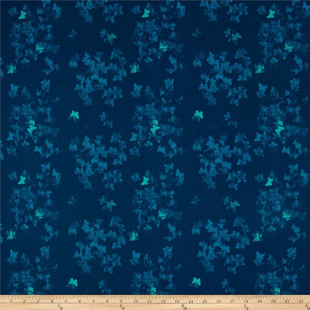 Art Gallery Avantgarde Neo-Flies Profound from @fabricdotcom  Designed by Katarina Roccella for Art Gallery Fabrics, this cotton print collection features rich, saturated colors and modern themes. Perfect for bold quilts, beautiful garments and apparel, and home decor accents such as throw or toss pillows. Colors include shades of blue and mint green. This particular butterfly print features silhouettes of butterflies that are crosshatched for an abstract and modern look.