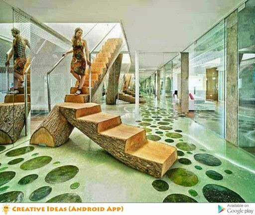 Stairs Made From A Tree Trunk!?! VERY BEAUTIFUL!!