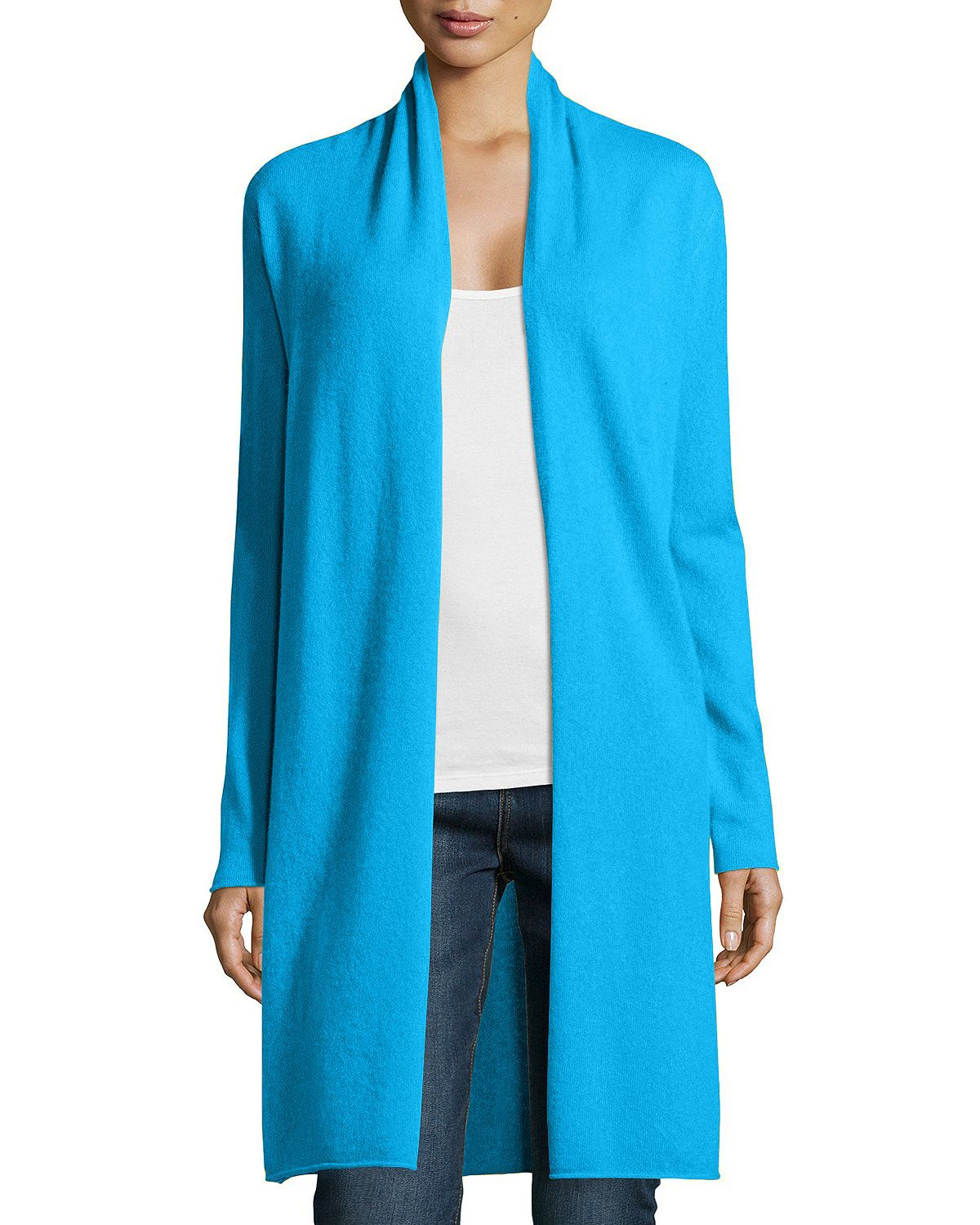 Long Cashmere Duster Cardigan, Women's | Products | Pinterest ...